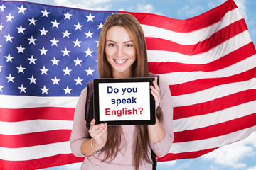 American Woman Asking Do You Speak English