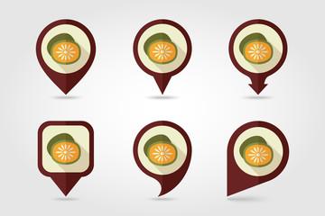 Kiwi mapping pins icons