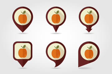 Apricot mapping pins icons