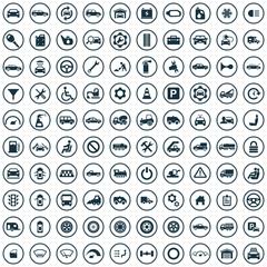 100 auto icons