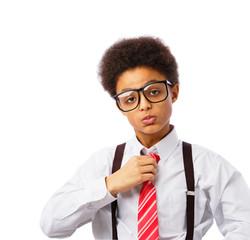 Businessman african american teenager