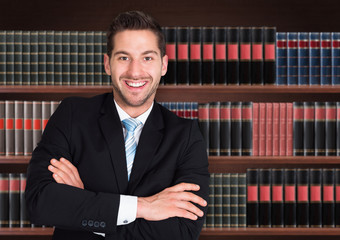 Portrait Of Happy Male Lawyer