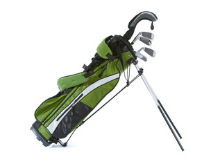 Clubs: Set Of Child's Golf Clubs With Bag