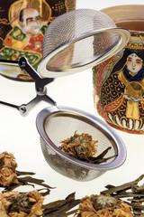 Tea Infusing Basket - Floral Green Tea