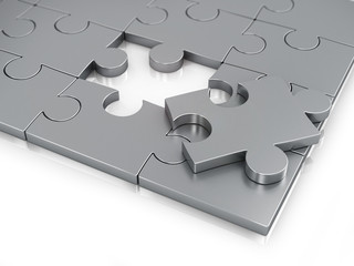 Missing Piece of Jigsaw Puzzle.