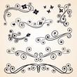Curly design floral elements