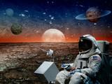 Naklejka astronaut