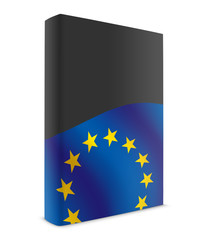 EU book cover flag black