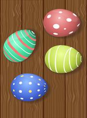 Easter Eggs dark wooden background