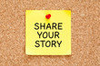 Share Your Story Post it Note