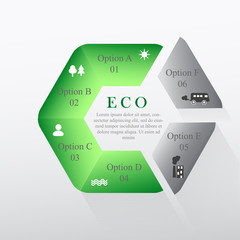 Circular infographics about the environment