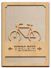 Fahrrad Verleih - Rahmen Holz - H