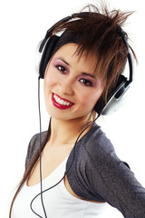 Asian Girl With Headphones