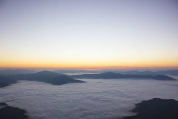 Sea of mist at Doi Pha Tang, Chiangrai , Thailand