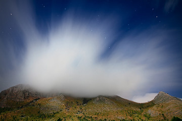 Clouds over mount Inici