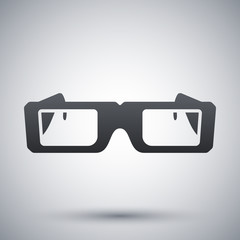 Vector Hipster Glasses Icon
