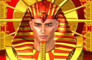 Egyptian Pharaoh Ramses. A modern digital art version