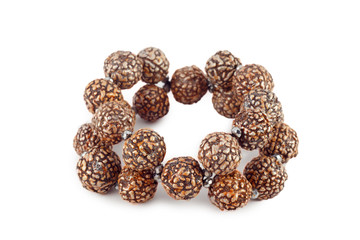 brown wooden beads bracelet