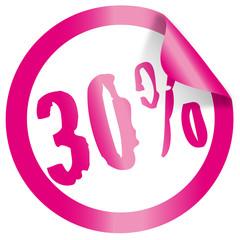 sticker / button 30%