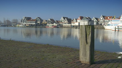 Embankment at Volendam, The Netherlands