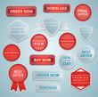 Modern web labels and badges. EPS10.