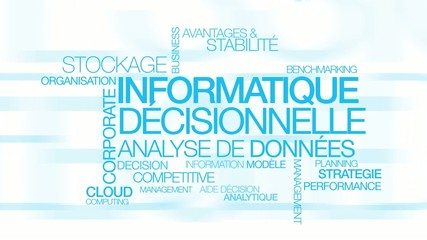 Informatique décisionnelle Business Intelligence nuage de mots