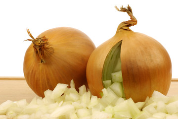 fresh onion with  already cut pieces coming out