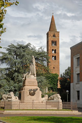 Garibaldi  square with the monument for the casualties of war
