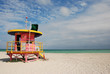 canvas print picture - Miami Beach Swimmers Lifeguard Station