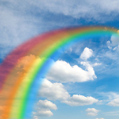 Beautiful Rainbow in Sky