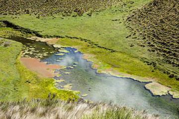 Shed clear water in the Cotopaxi National Park