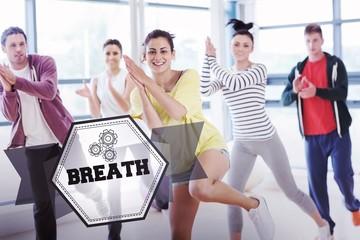 Breath against hexagon