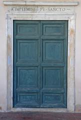 Ravenna, Old Saint Spirit Basilica door.