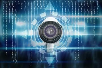 Composite image of cctv camera