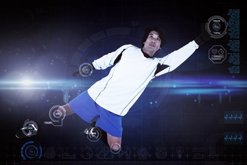 Composite image of goal keeper