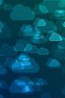 Zdjęcia na płótnie, fototapety, obrazy : Blurred blue cloud signs defocused background
