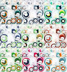 Mega collection of swirl, circle abstract backgrounds