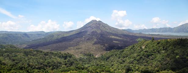 Panorama of volcano Batur