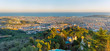 Panorama of Barcelona seen from Mount Tibidabo
