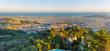 Panorama of Barcelona seen from Mount Tibidabo