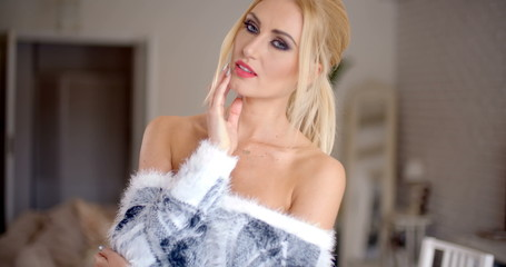 Glamorous gorgeous blond woman