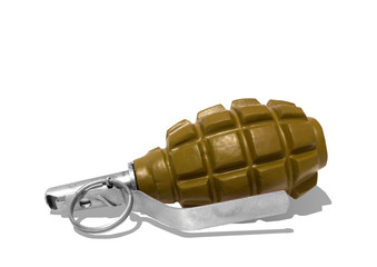 Combat grenade on a white background.