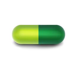 Grüne Arzneikapsel