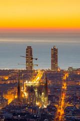 The famous Sagrada Familia in Barcelona before sunrise
