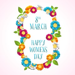 Happy Women day illustration