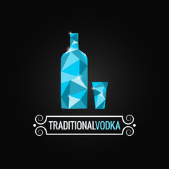 vodka bottle poly design background