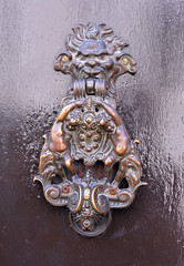 Italy,  Ravenna, very old door handle.
