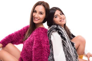 Girls posing