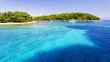 clear crystal water over Hvar island in Dalmatia, Croatia - 78499296