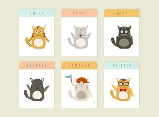 Happy Cat icons set
